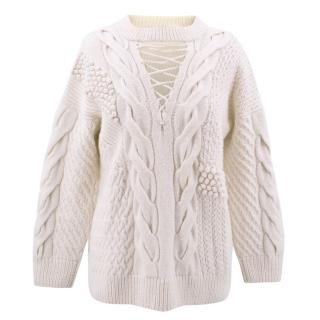 Prabal Gurung Off White Cashmere/wool Sweater