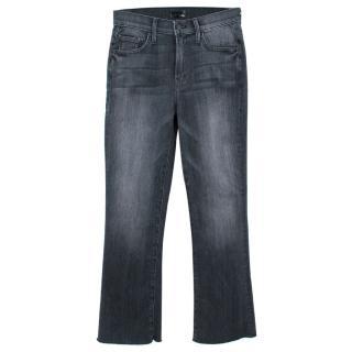 Mother The Insider Crop Fray Denim Jeans