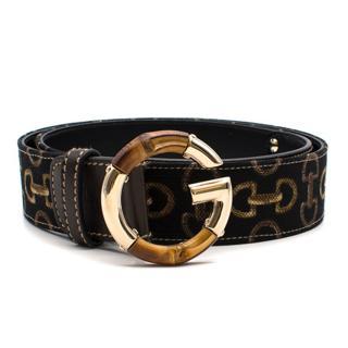 Gucci Bamboo Fabric Belt