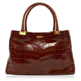 Zilli Linda Crocodile Handbag