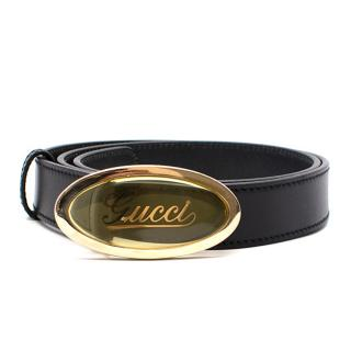 Gucci Leather Belt With Perplex Buckle