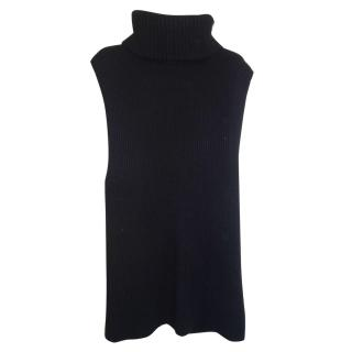 Joseph Black Long Sleeveless Sweater