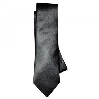 Burberry Slim Cut Silk Tie in Black