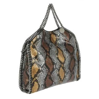 Stella McCartney Metallic Python Faux Leather Small Falabella Tote