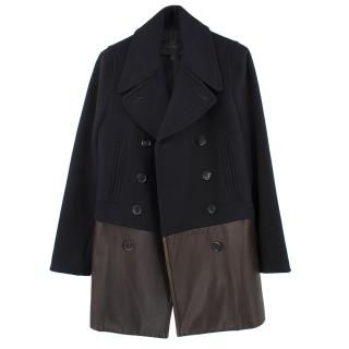 Coach Wool Blend and Leather Coat