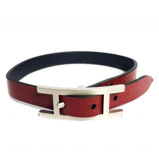 Hermes Behapi Double Tour leather bracelet with receipt