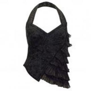 Ralph Lauren embellished black halter top