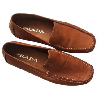 Prada fan leather lats
