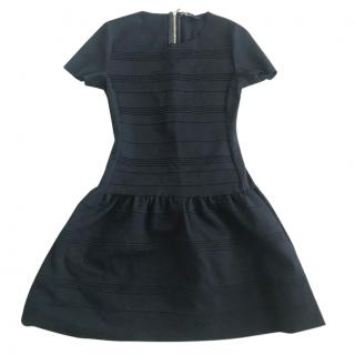 Make black fit and flare dress