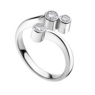 Georg Jensen Cascade Diamond Ring 18K White Gold