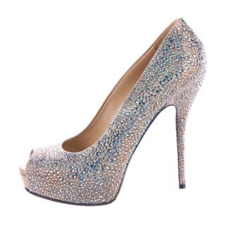 Gucci Sofia Etoile Strass Crystal Bejeweled Platform Pump