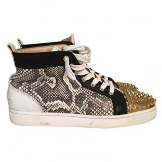 Christian  Louboutin men's python /spike hightops