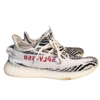 Yeezy men's zebra trainers