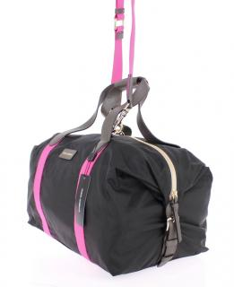Dolce & Gabbana Black and pink duffle boston gym bag