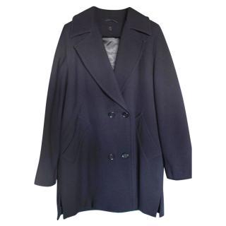 Max Mara Navy Wool Coat