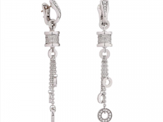 Bvlgari Bzero1 pendant diamond white gold earrings