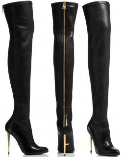Tom Ford Over-the-Knee Napa Leather Stretch Boots