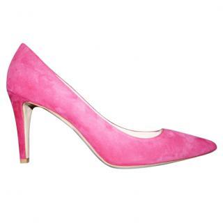 GIORGIO ARMANI pink suede pumps