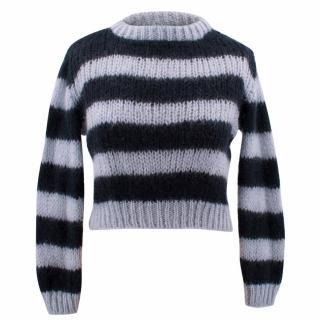 Ganni Wool Blend Striped Chunky Jumper