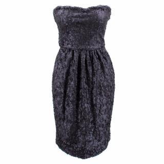 Fendi Strapless Sequined Dress