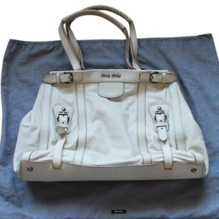 Miu Miu Leather Shopper Bag