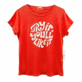 Mother Red Cotton T-Shirt