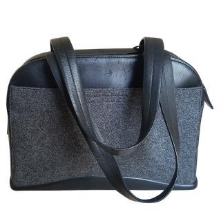 Prada grey fabric shoulder bag