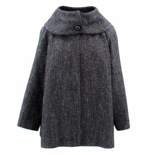 Versace Wool Blend Textured  Short Coat