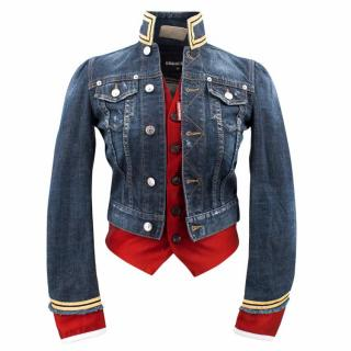 Dsquared Denim Jacket With Red Vest
