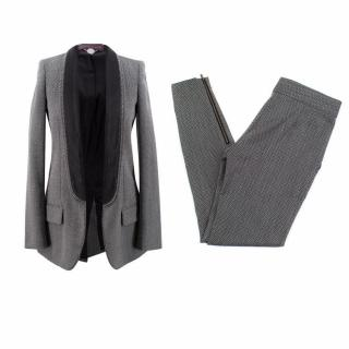 Stella McCartney Wool Textured Trouser Suit