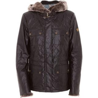 Belstaff Gold Label Wax Jacket with fur trimmed hoods and cuffs