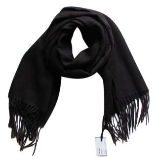 Moschino Black Wool Scarf