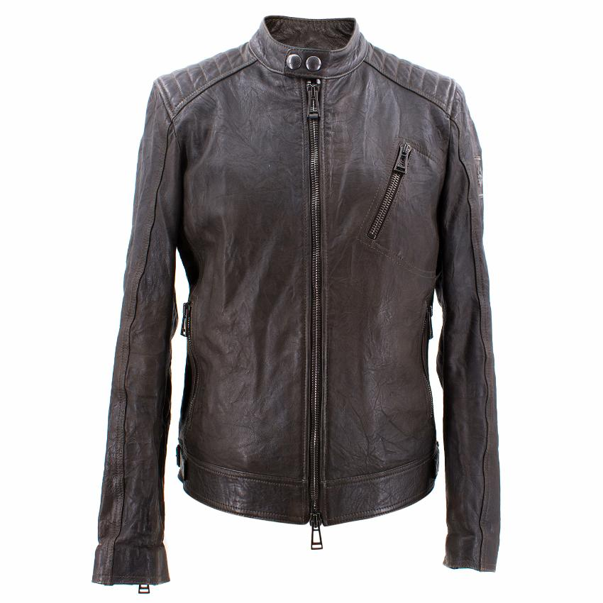 Belstaff Brown Leather Jacket