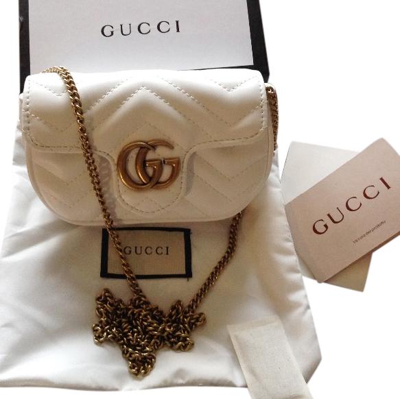 06a7ffa12 Gucci White Marmont Matelasse Super Mini Bag | HEWI London