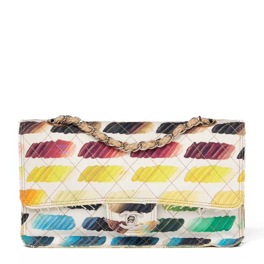Chanel Multicolour Quilted Canvas Watercolour Colorama Flap Bag