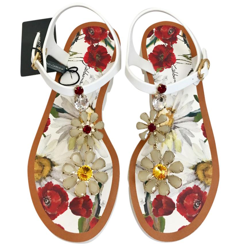 3a53c5720666 Dolce   Gabbana crystal sabdals flip flops