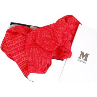 Missoni Red Scarf