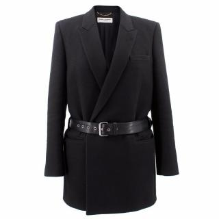 Saint Laurent Wool Belted Coat
