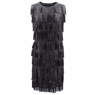 Pellessimo Fringed Leather Dress