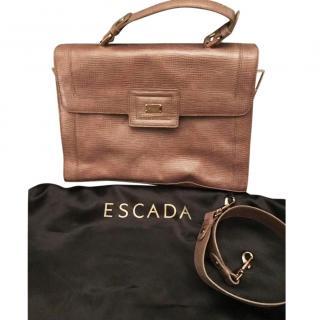 Escada Satchel, Size L, With Detachable Strap