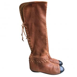 Chanel Perforated Boots