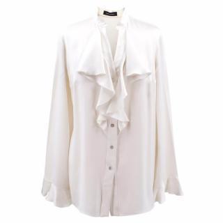 Magda Butrym Ruffled Satin Shirt