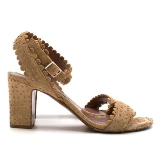 Tabitha Simmons Tan Suede Sandals