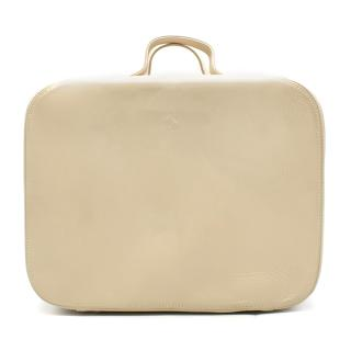 Ferrari Beige Leather Vanity case