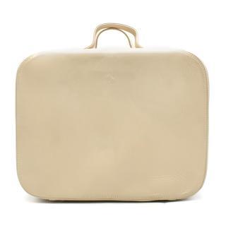 Ferrari Beige Leather Vanity case