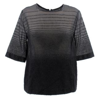 Ostwald Helgason Black Silk Textured T- shirt