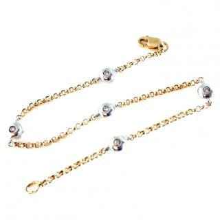 Hattons Diamond bracelet 18ct gold (by the yard style)