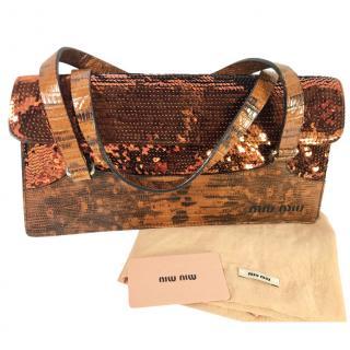 Miu Miu Lizard Skin Bag