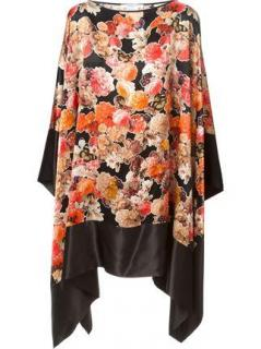 Givenchy Black Butterfly And Floral-Print Silk Kaftan