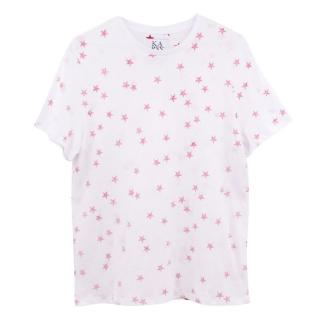 Zoe Karssen White and Red Star Cotton T-shirt